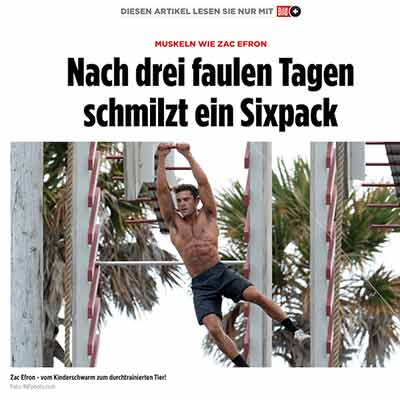 Promi Personal Trainer Sixpack Tipps Zac Efron