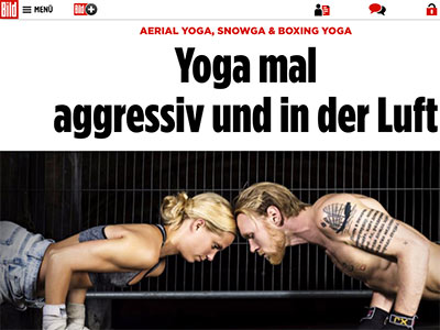 Personal Trainer über Yoga