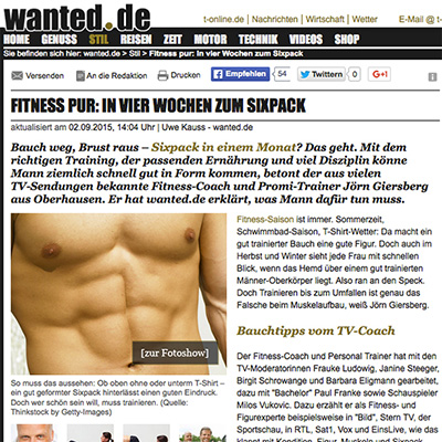 sixpack in 4 wochen wanted.de